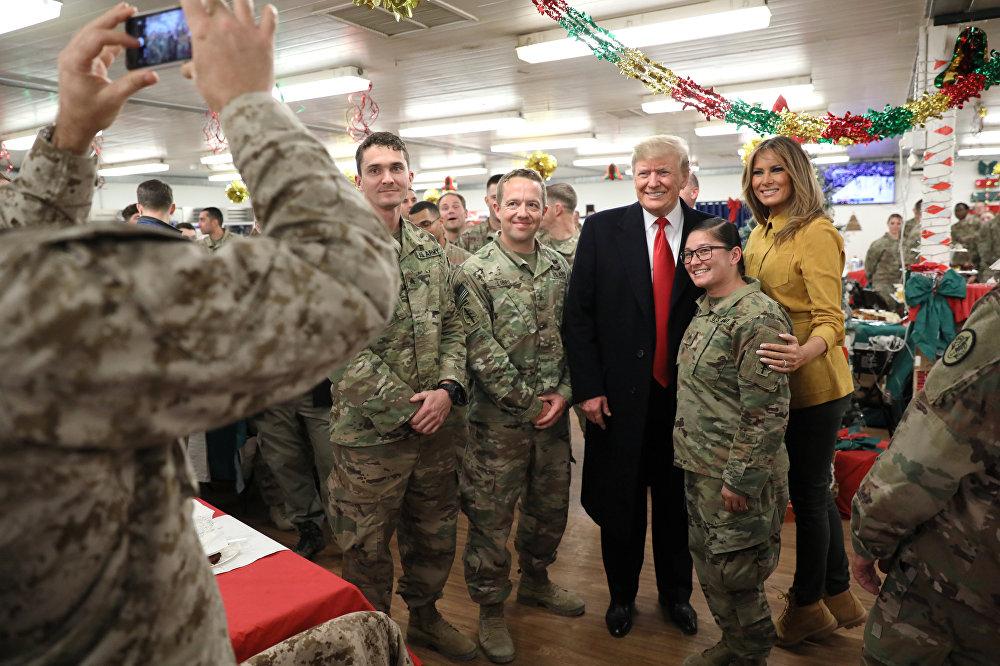 La visite de Donald Trump sur la base militaire américaine en Irak