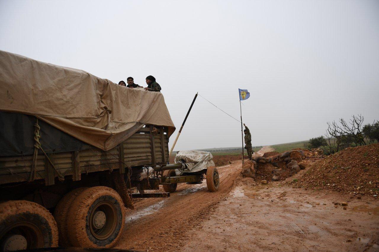 Forces syriennes déployées dans le district de Manbij