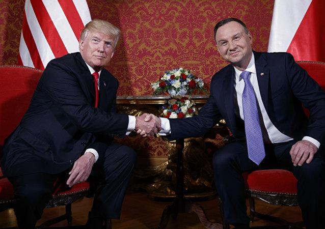 Donald Trump et Andrzej Duda