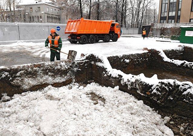 Poste de fonte de neige