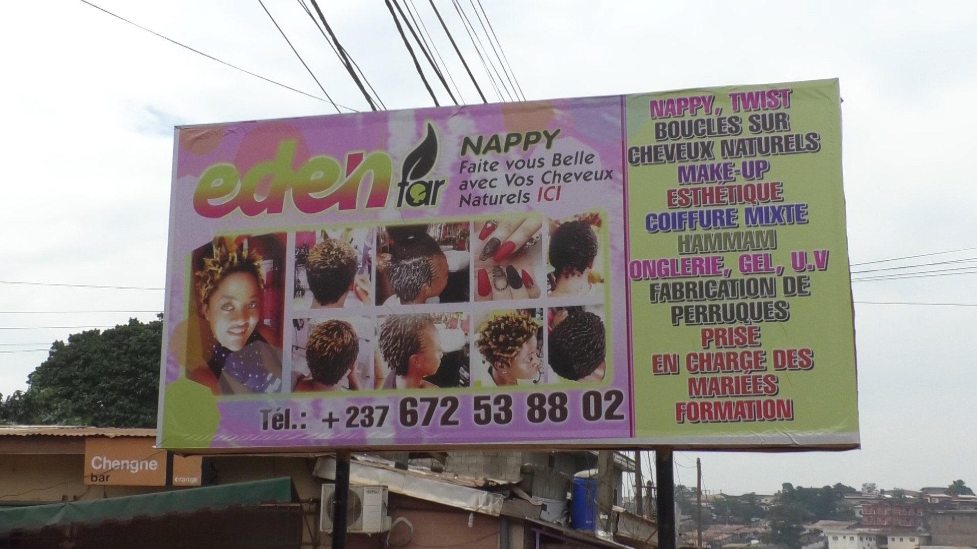 Commerce de cheveux au Cameroun