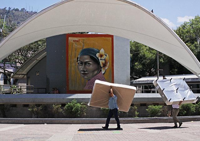 Un livreur de matelas (photo d'illustration)