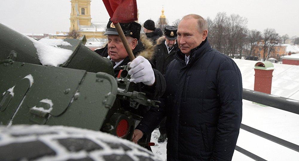 Vladimir Poutine dans la forteresse Pierre-et-Paul de Saint-Pétersbourg