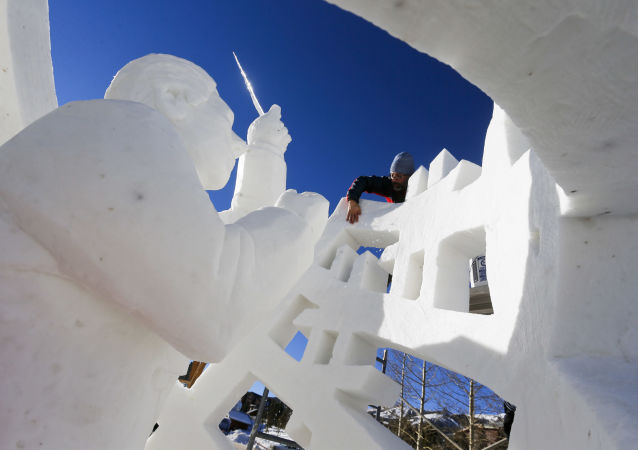Incroyables sculptures de neige à travers le monde