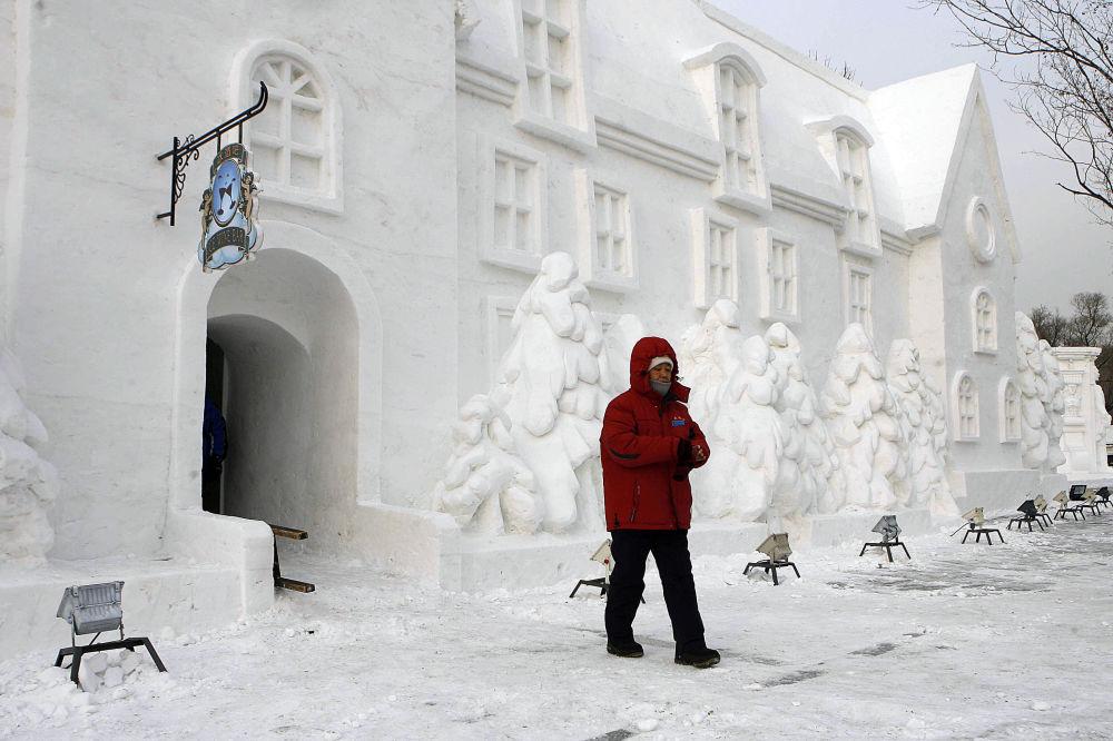 Incroyables sculptures de neige à travers le monde