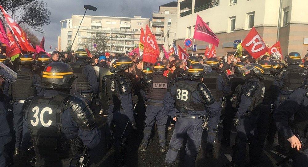 Manifestation à Créteil, 9 janvier 2019