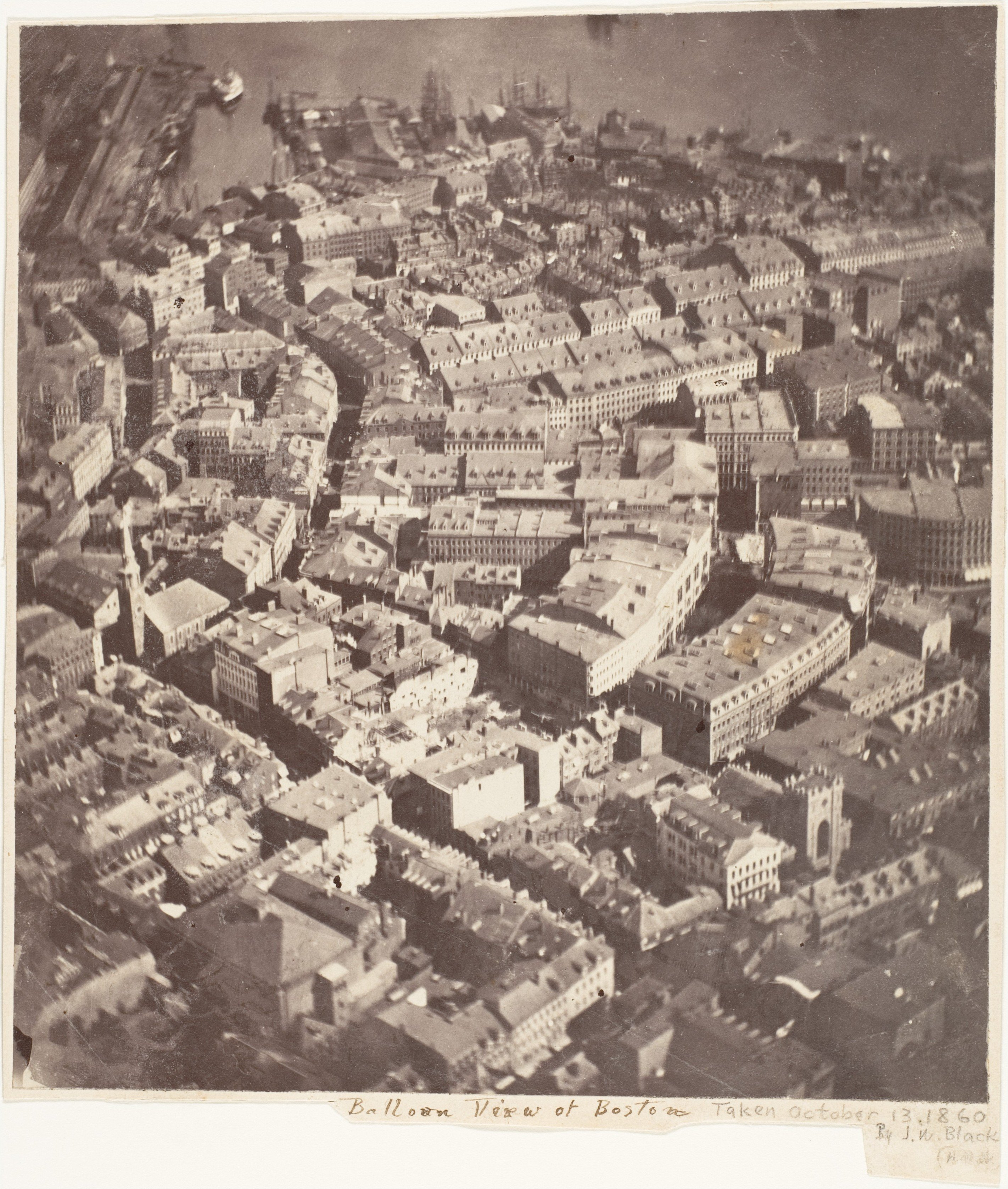 Boston comme la voient les aigles et les oies sauvages, 1860