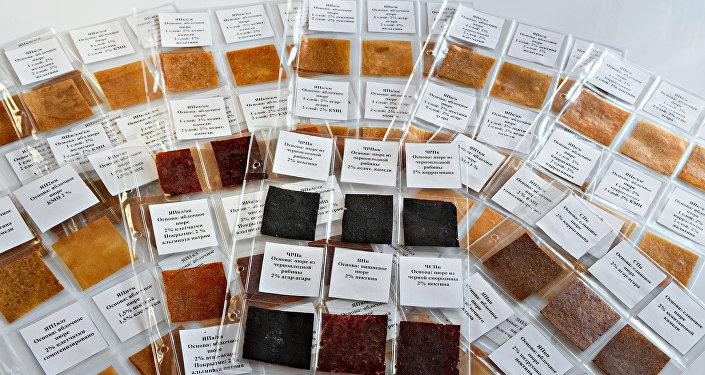 La palette des films comestibles, créés à l'Université technique d'État de Samara