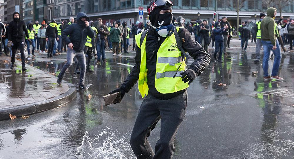 manifestation de Gilets jaunes en Belgique