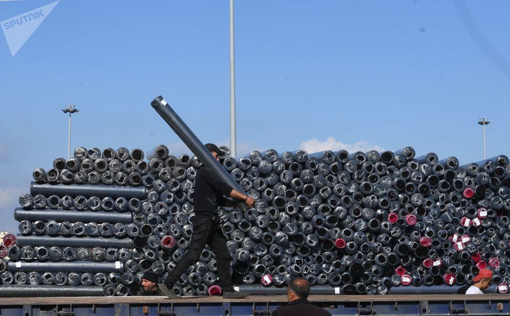 Le port maritime de Lattaquié en Syrie