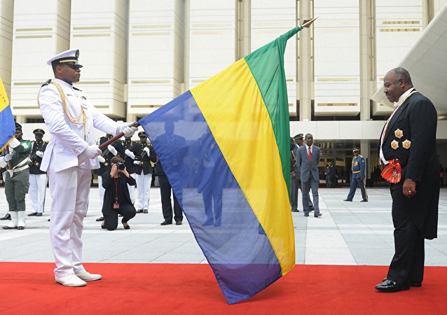 Ali Bongo, lors de la prestation de serment, le 27 septembre 2016, Gabon