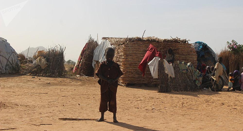 Dans un camp des déplacés Mémé, Extrême-Nord du Cameroun