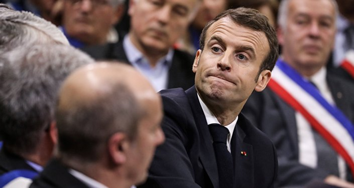 Emmanuel Macron lors du Grand débat