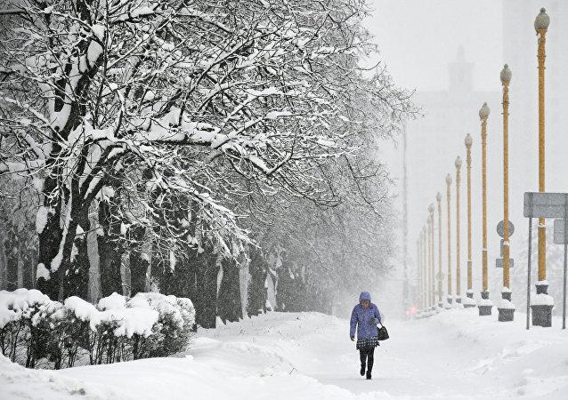 La neige à Moscou
