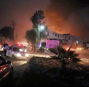 Explosion au Mexique
