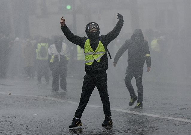 Acte 10 des Gilets jaunes à Paris (image d'illustartion)