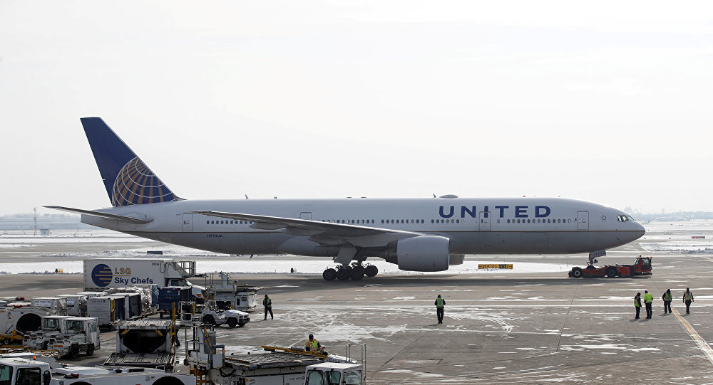 Un avion d'United Airlines
