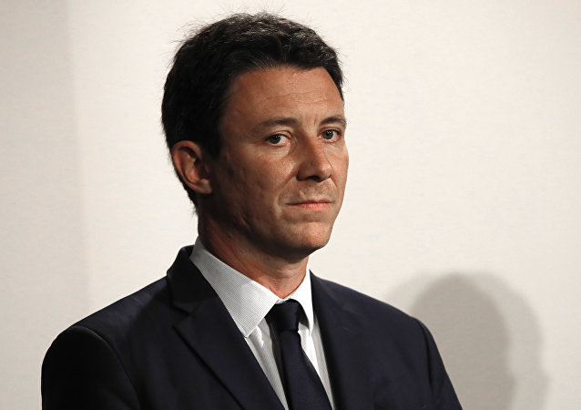 French Government's Spokesperson Benjamin Griveaux attends a press conference in Paris, Wednesday, Jan. 9, 2019.
