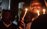 Les partisans de Félix Tshisekedi lors des élections présidentielles en RDC
