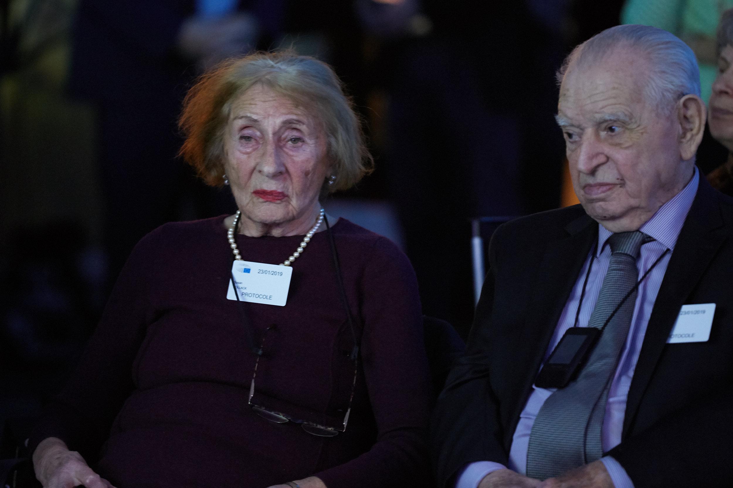 Susan Pollak, survivante de la Shoah, aux commémorations au Parlement européen, le 23 janvier 2019
