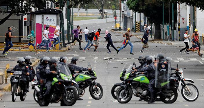 La police à Caracas (23 janvier 2019)