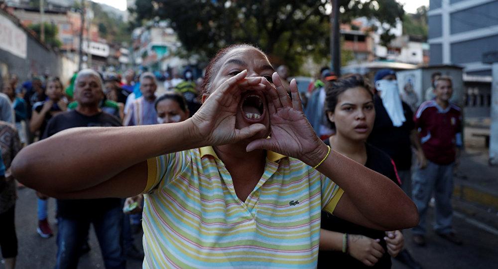 Protestations à Caracas, Venezuela