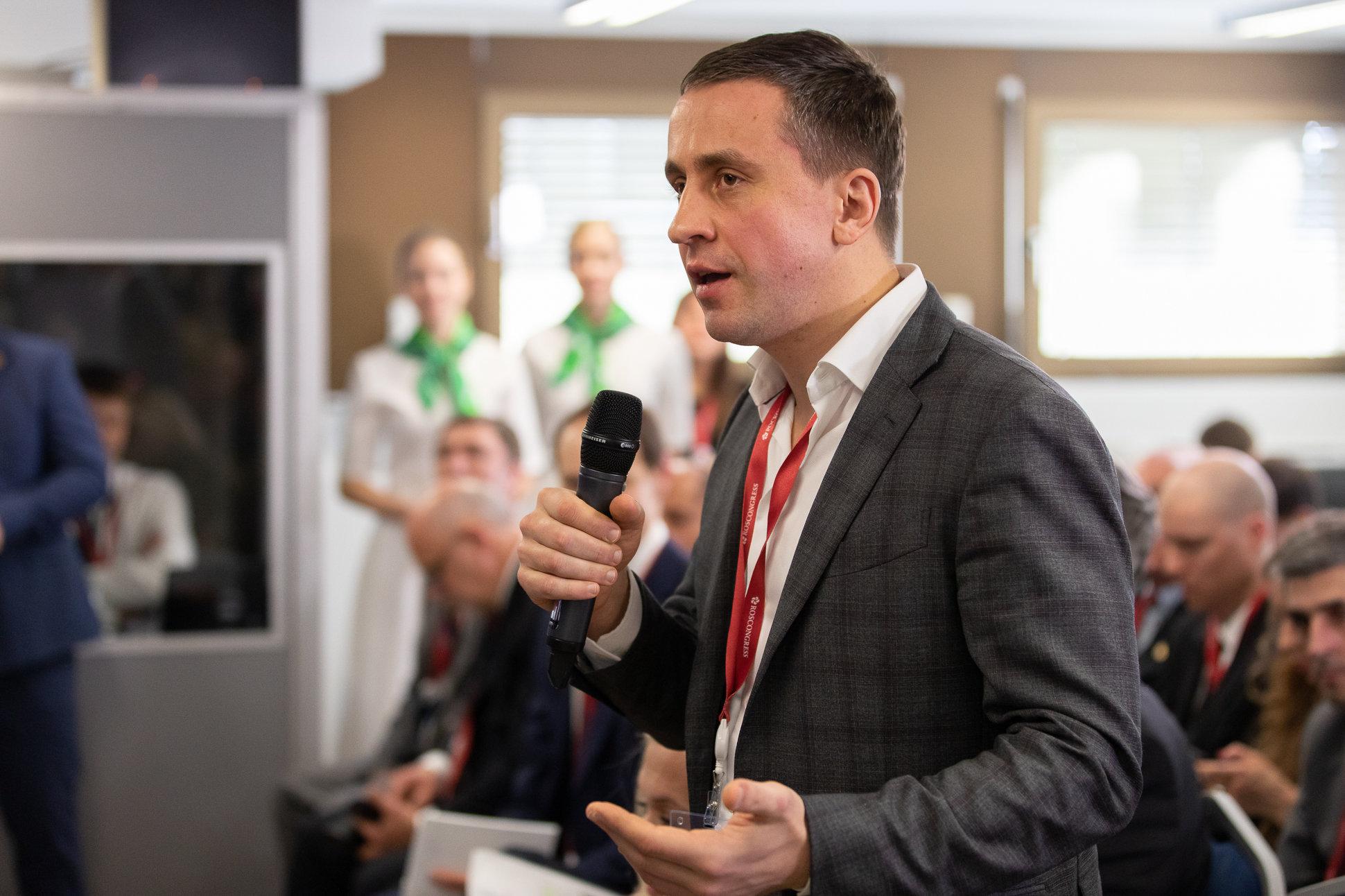 Alexander Ivanov, à la Maison de la Russie du forum de Davos