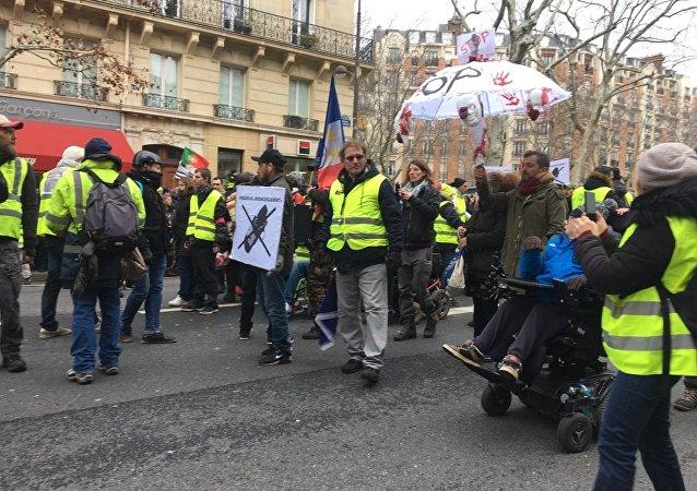 L'acte 12 à Paris de Gilets jaunes, le 2 février 2019