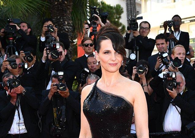 Juliette Binoche à la cérémonie de clôture du 70e Festival des Cannes