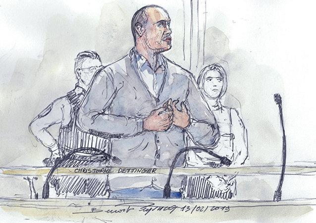 Christophe Dettinger devant le tribunal