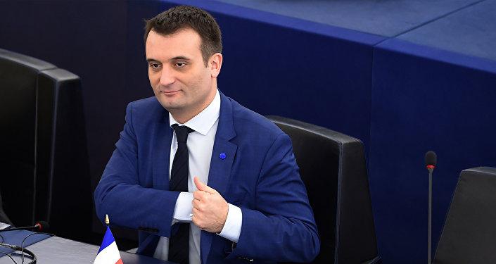 Florian Philippot au Parlement européen