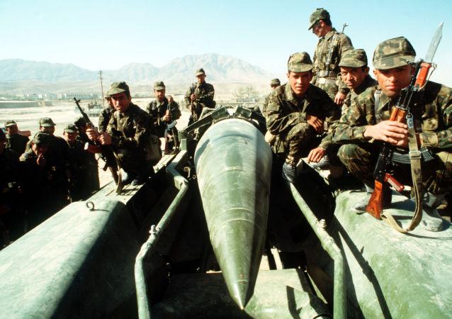 Des militaires soviétiques en Afghanistan