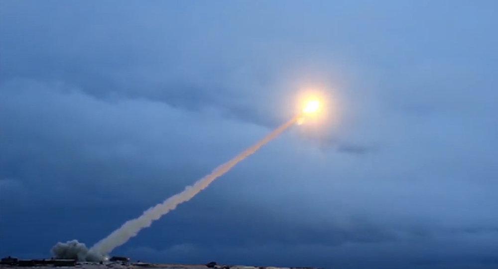Essais d'un missile russe (Image d'illustration)