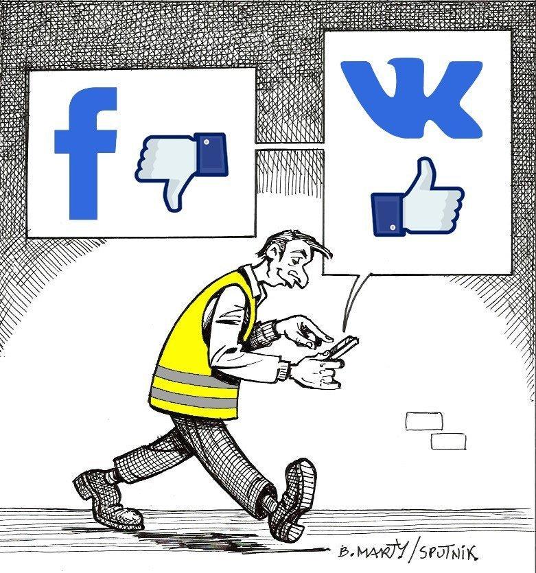 Des Gilets jaunes quittent Facebook pour rejoindre VKontakte