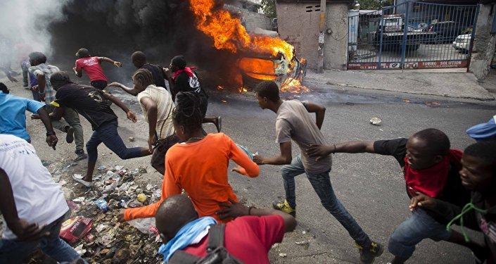 Manifestation  Port-au-Prince