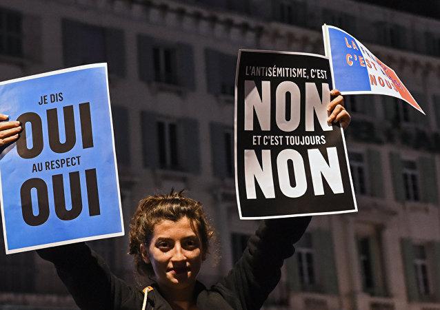 Marche contre l'antisémitisme