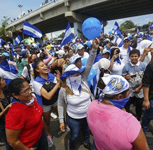 Des manifestants au Nicaragua