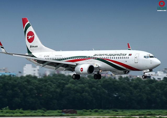 Un Boeing 737 de Biman Bangladesh Airlines