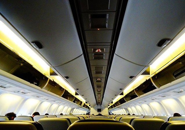 A l'intérieur d'un avion