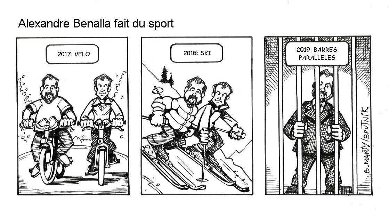 Alexandre Benalla fait du sport