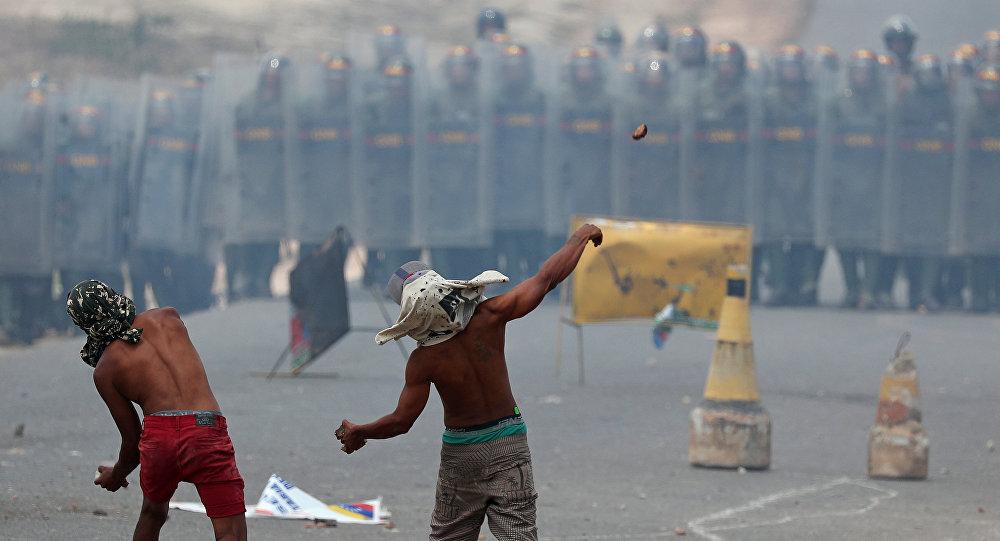Situation à la frontière entre le Venezuela et le Brésil