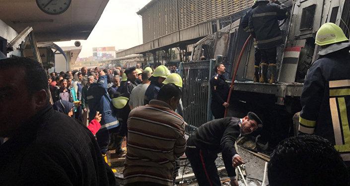 Déraillement d'un train à la Gare de Ramses en Egypte