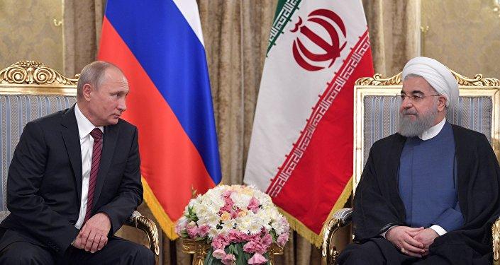Vladimir Poutine et Hassan Rohani