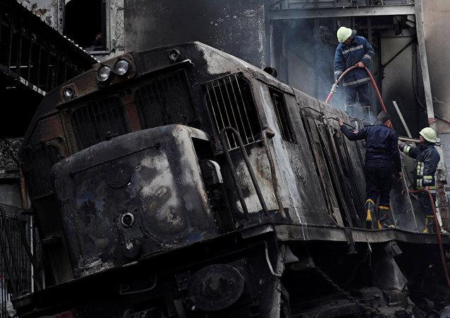 Déraillement du train au Caire