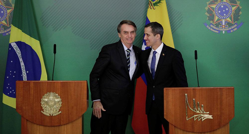 Juan Guaido et Jair Bolsonaro à Brasilia