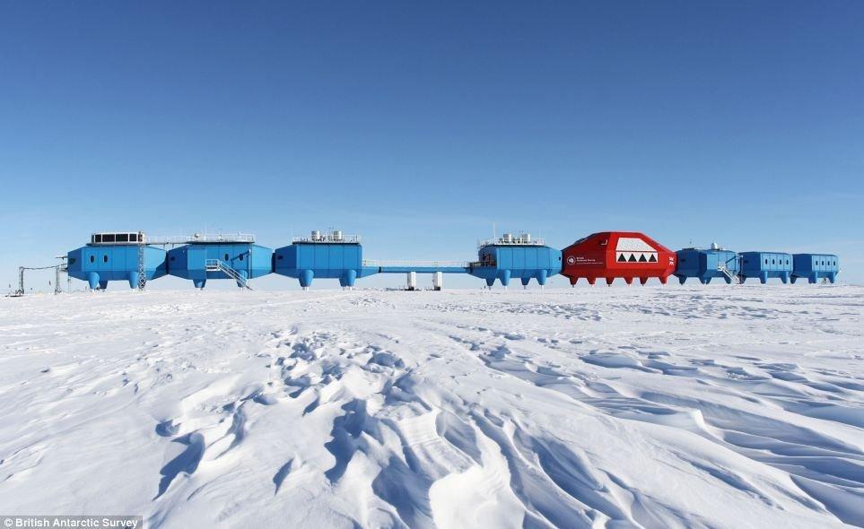Base de recherche Halley en Antarctique