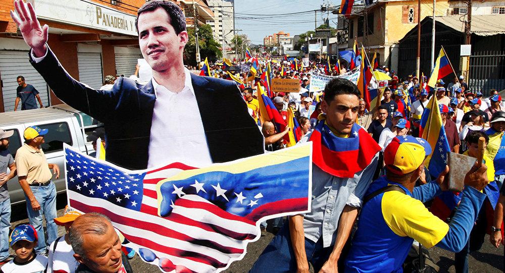 Les partisans de l'opposition au Venezuela