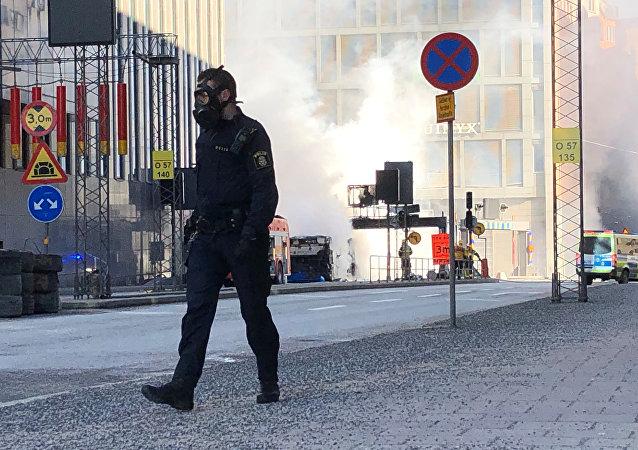 Une puissante explosion dans un bus se produit dans le centre de Stockholm