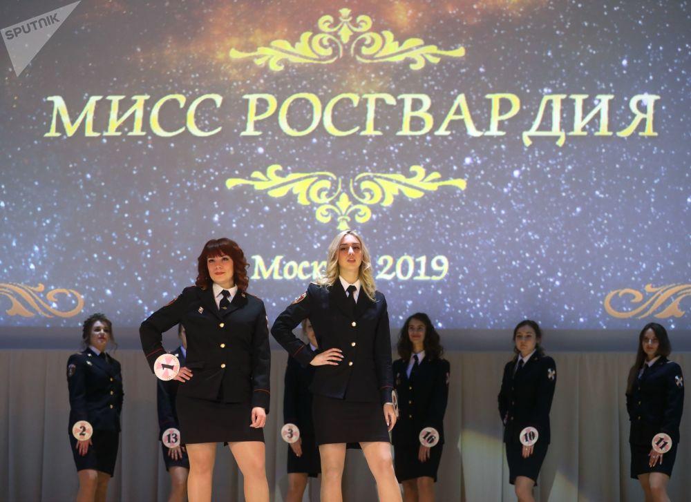 La beauté en uniforme: finale du concours Miss Rosgvardia Moscou 2019