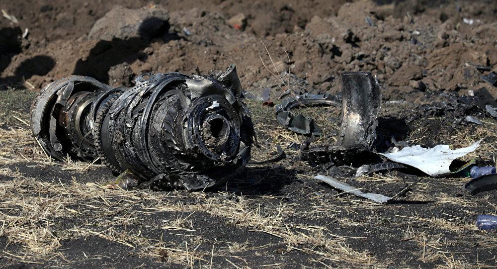 Lieu du crash du Boeing 737 MAX d'Ethiopian Airlines